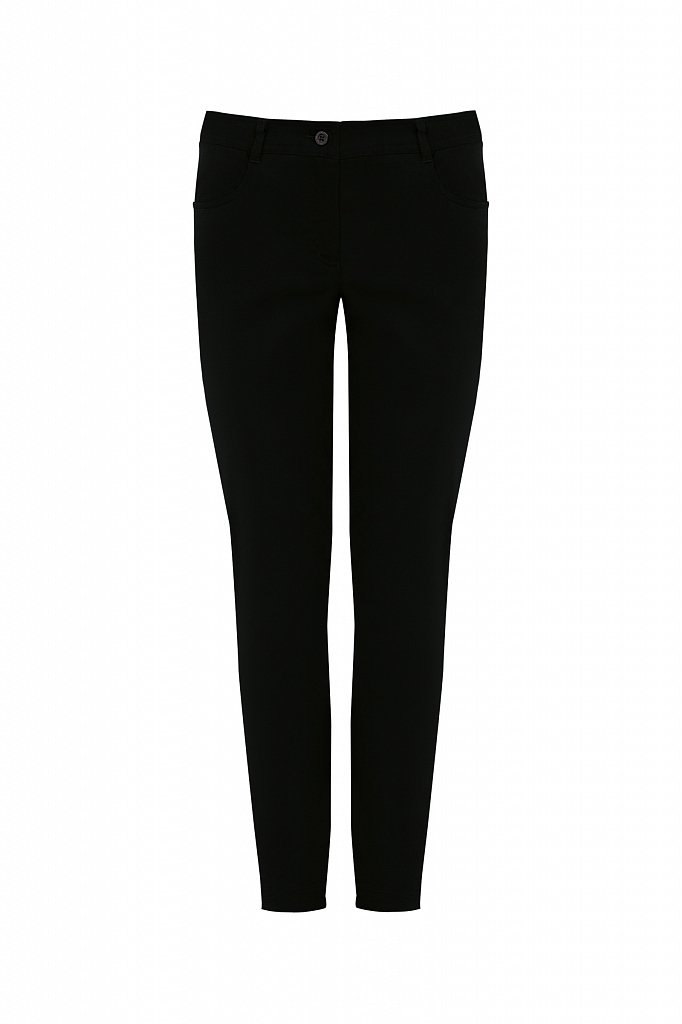 Зауженные хлопковые женские брюки с эластаном, Модель A20-11067, Фото №6