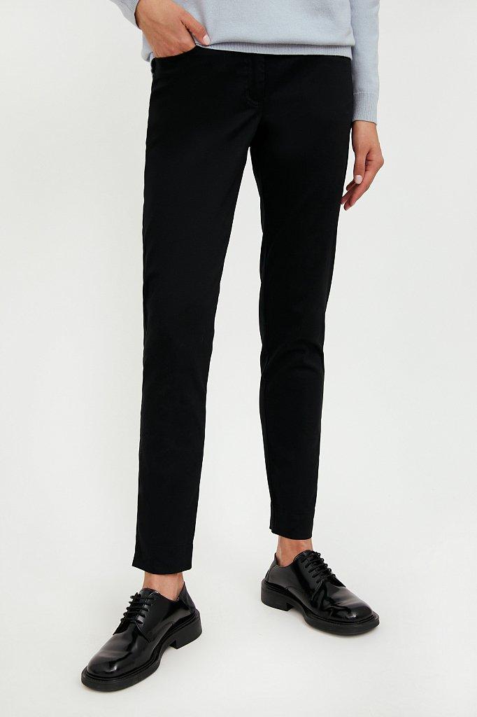 Зауженные хлопковые женские брюки с эластаном, Модель A20-11067, Фото №2