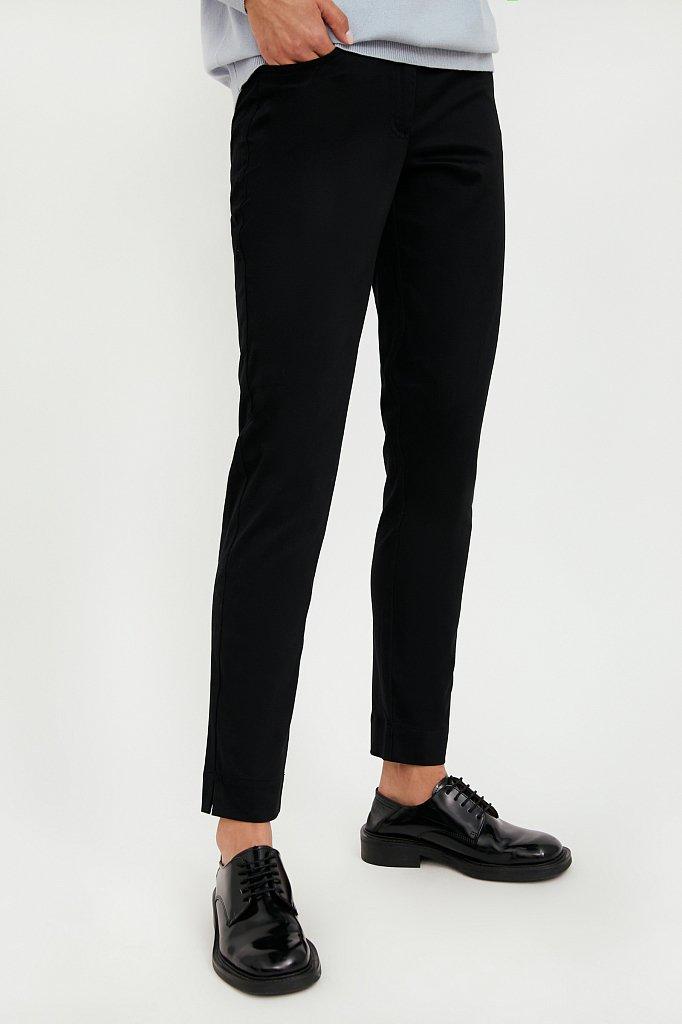 Зауженные хлопковые женские брюки с эластаном, Модель A20-11067, Фото №3