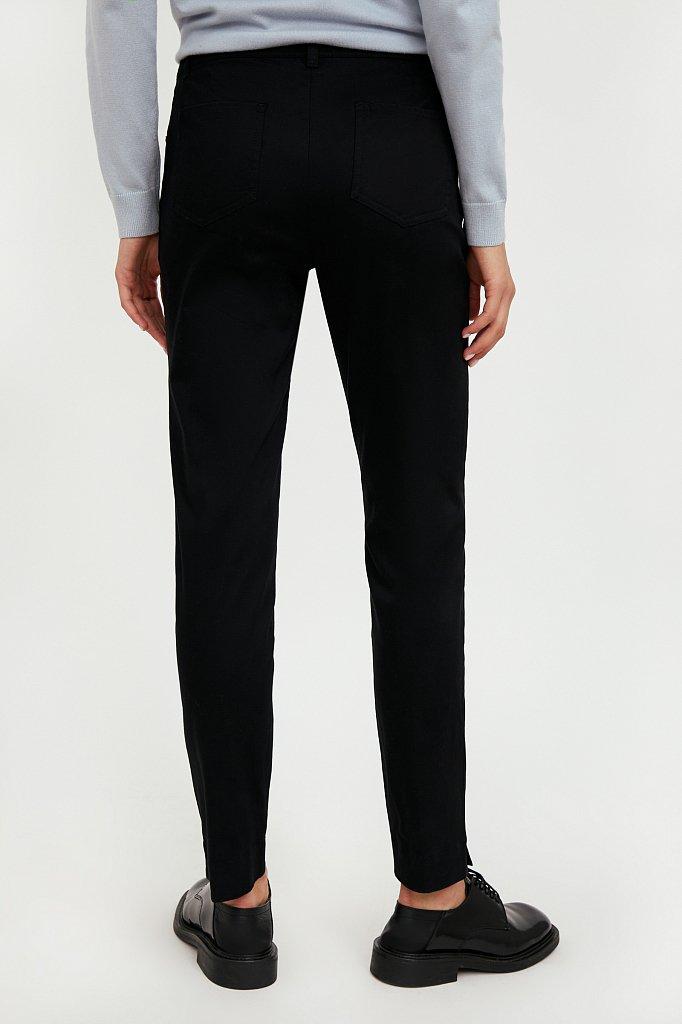 Зауженные хлопковые женские брюки с эластаном, Модель A20-11067, Фото №4