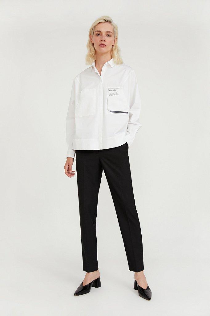 Классические прямые женские брюки со стрелками, Модель A20-11084, Фото №1