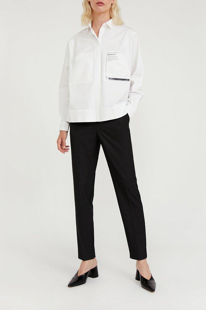 Классические прямые женские брюки со стрелками, Модель A20-11084, Фото №7