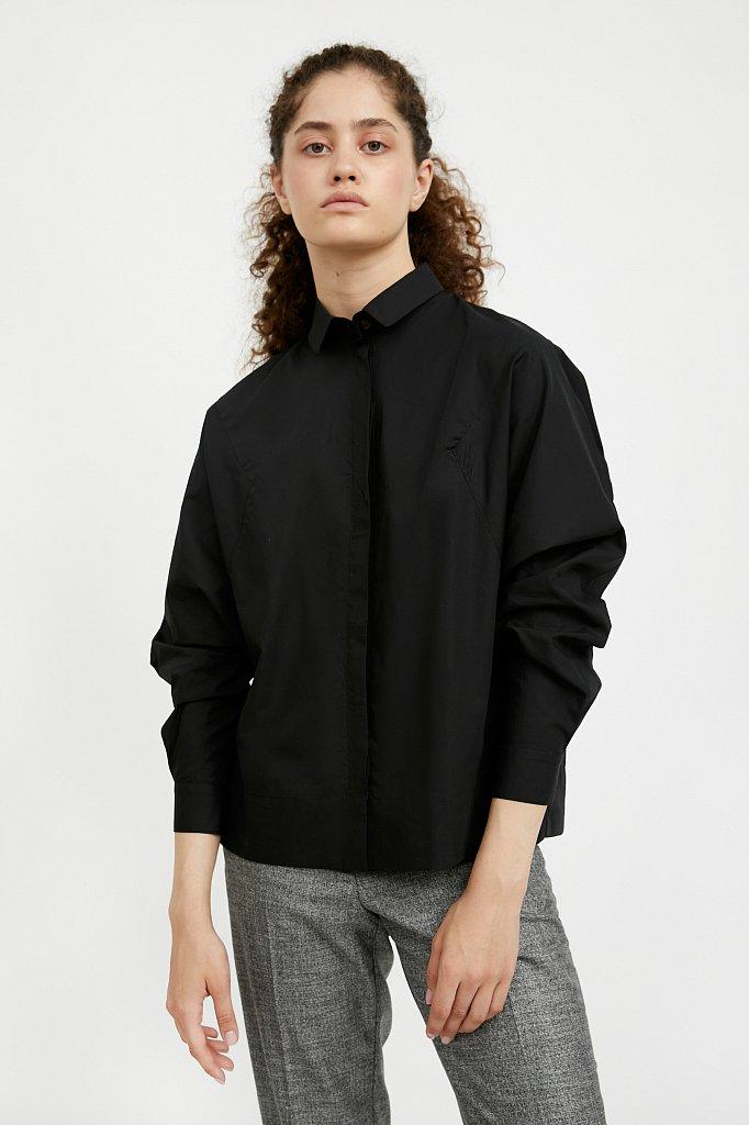 Блузка женская оверсайз с рукавами «летучая мышь», Модель A20-11088R, Фото №1