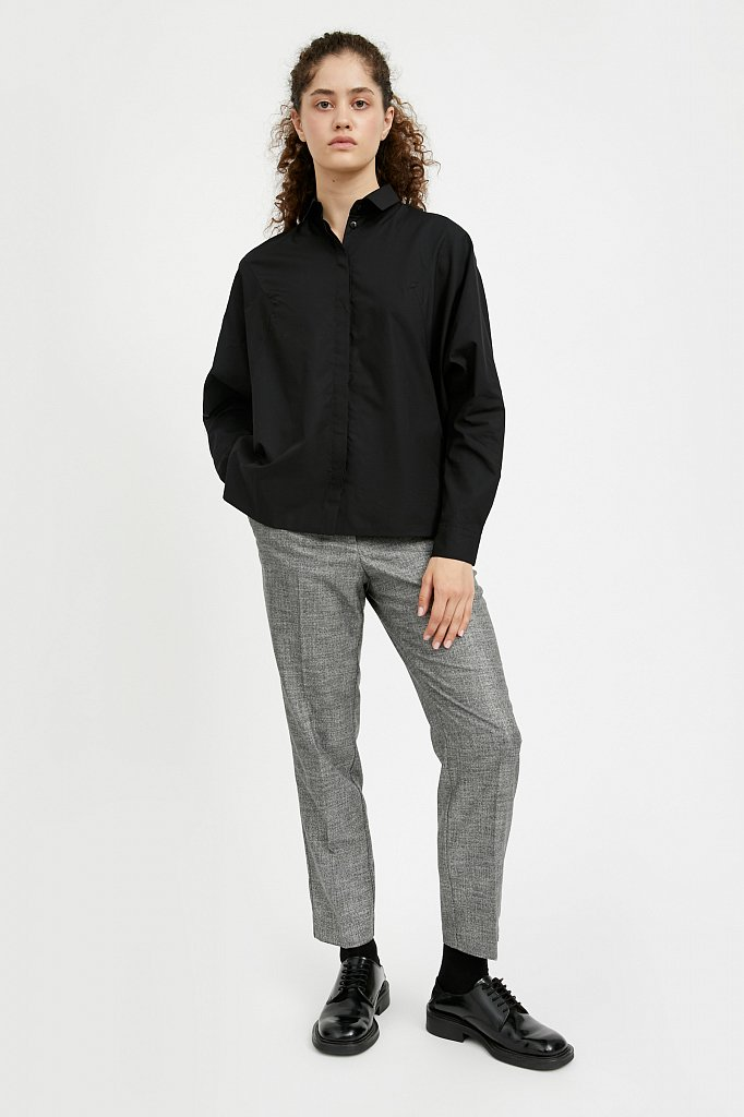 Блузка женская оверсайз с рукавами «летучая мышь», Модель A20-11088R, Фото №2