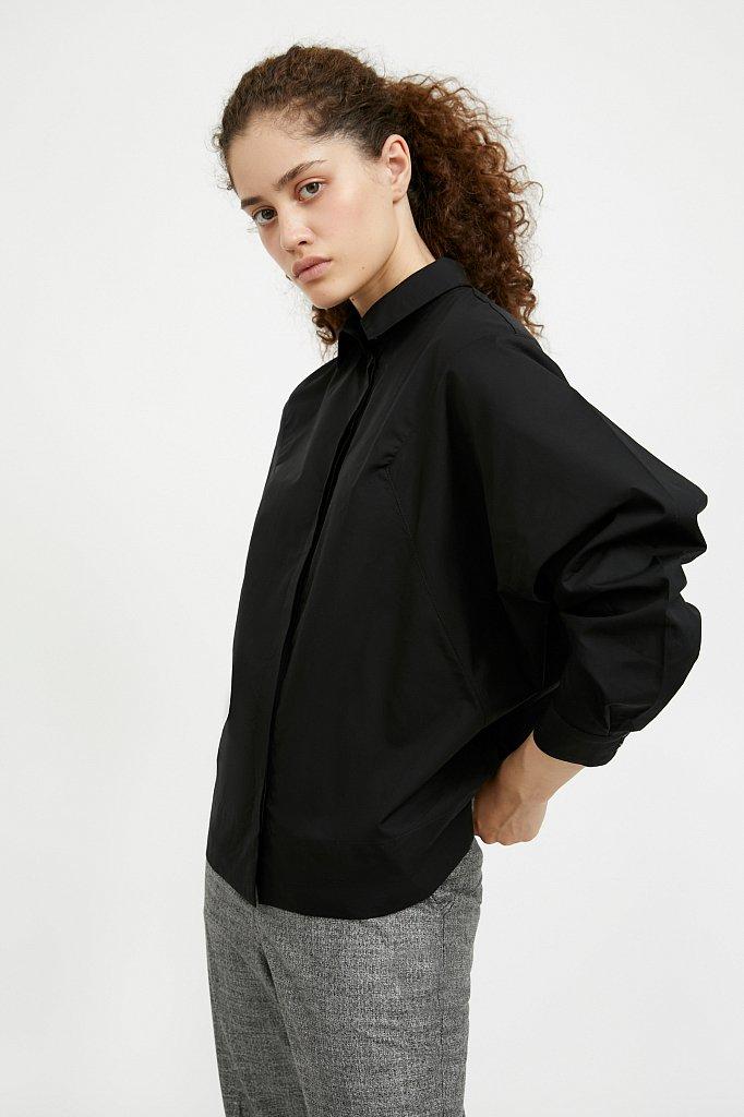 Блузка женская оверсайз с рукавами «летучая мышь», Модель A20-11088R, Фото №3