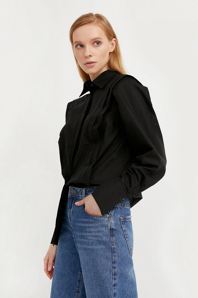 Блузка женская оверсайз с декоративной отделкой, Модель A20-11096R, Фото №3