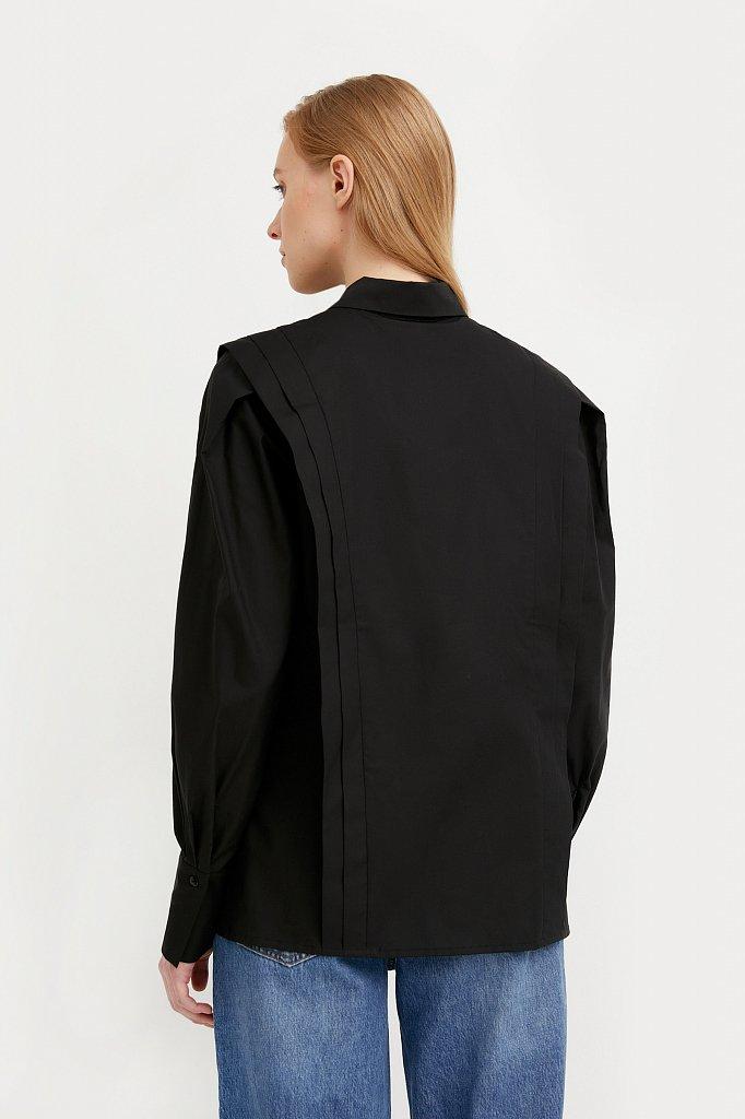 Блузка женская оверсайз с декоративной отделкой, Модель A20-11096R, Фото №4