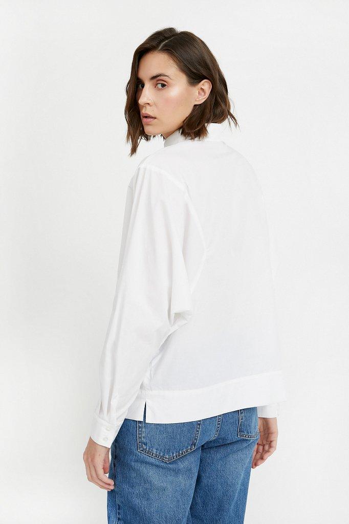 Блузка женская оверсайз с рукавами «летучая мышь», Модель A20-11088R, Фото №4