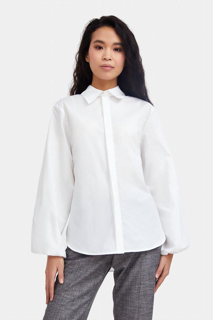Блузка женская оверсайз с объемными рукавами, Модель A20-11091R, Фото №1