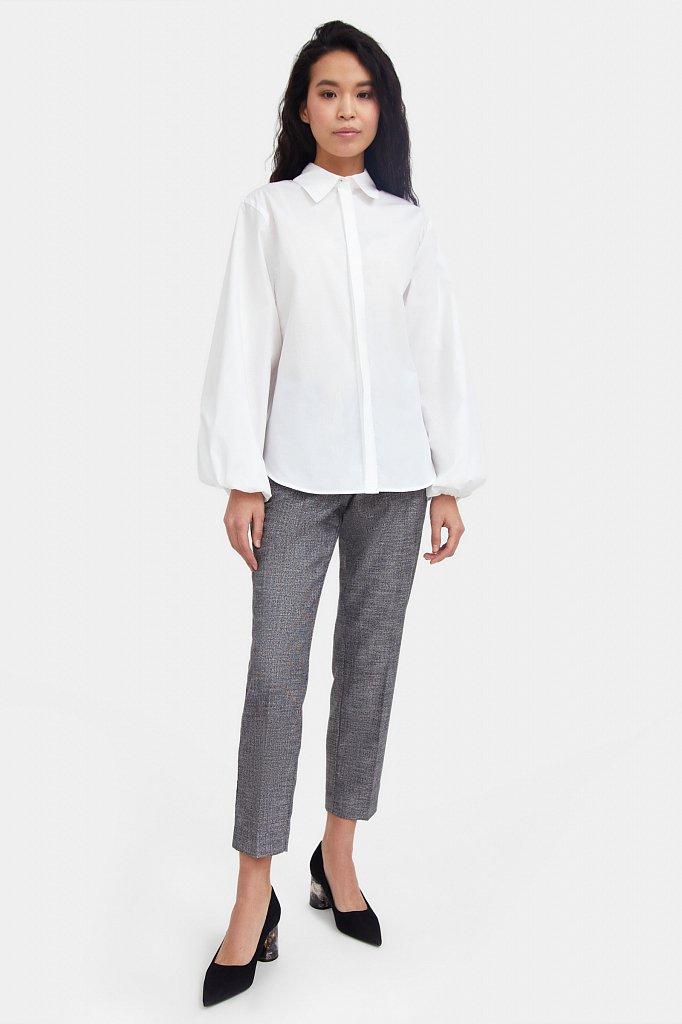 Блузка женская оверсайз с объемными рукавами, Модель A20-11091R, Фото №2