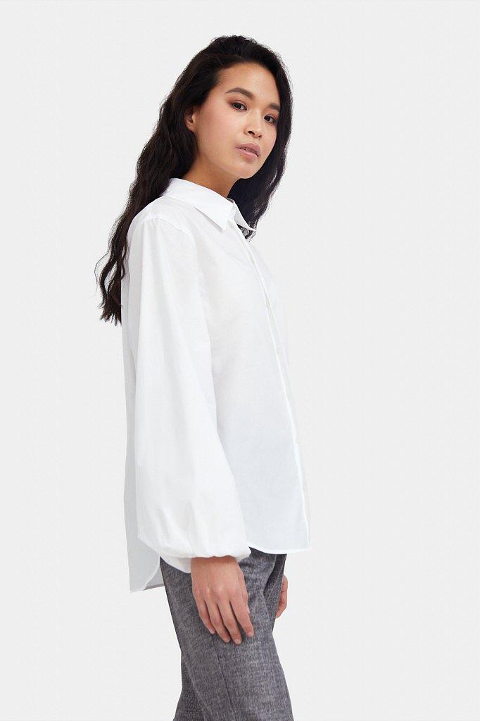 Блузка женская оверсайз с объемными рукавами, Модель A20-11091R, Фото №3
