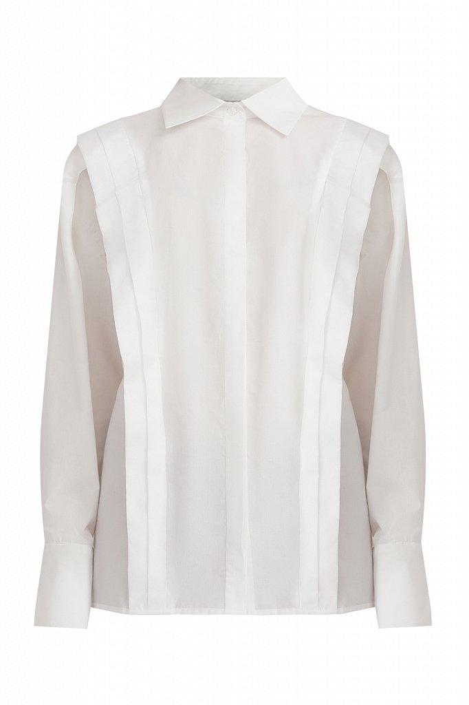 Блузка женская оверсайз с декоративной отделкой, Модель A20-11096R, Фото №7