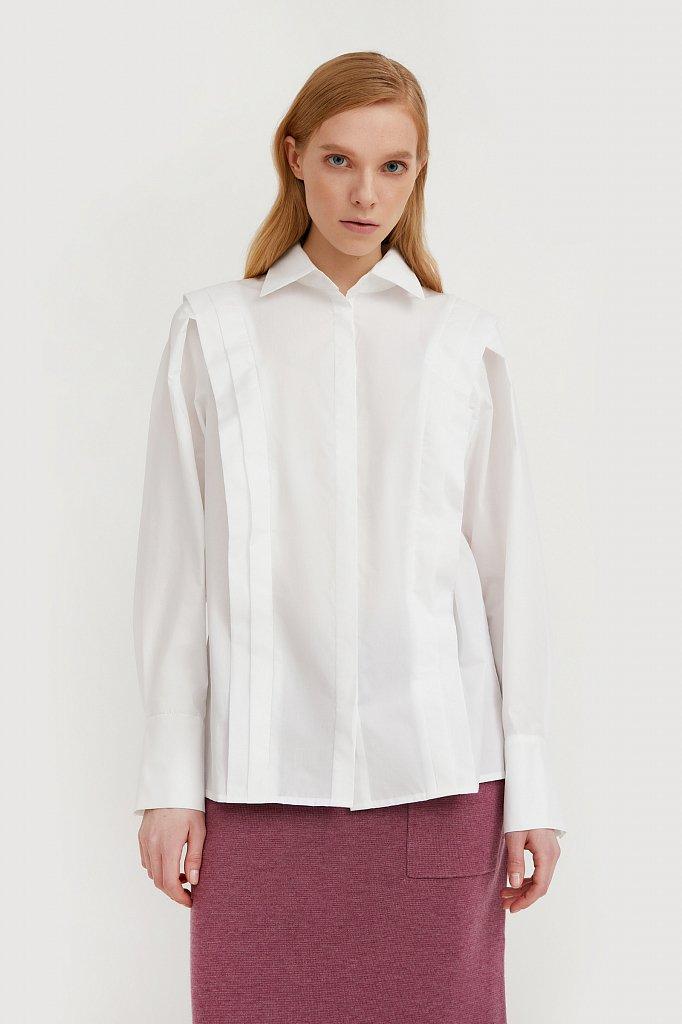 Блузка женская оверсайз с декоративной отделкой, Модель A20-11096R, Фото №2