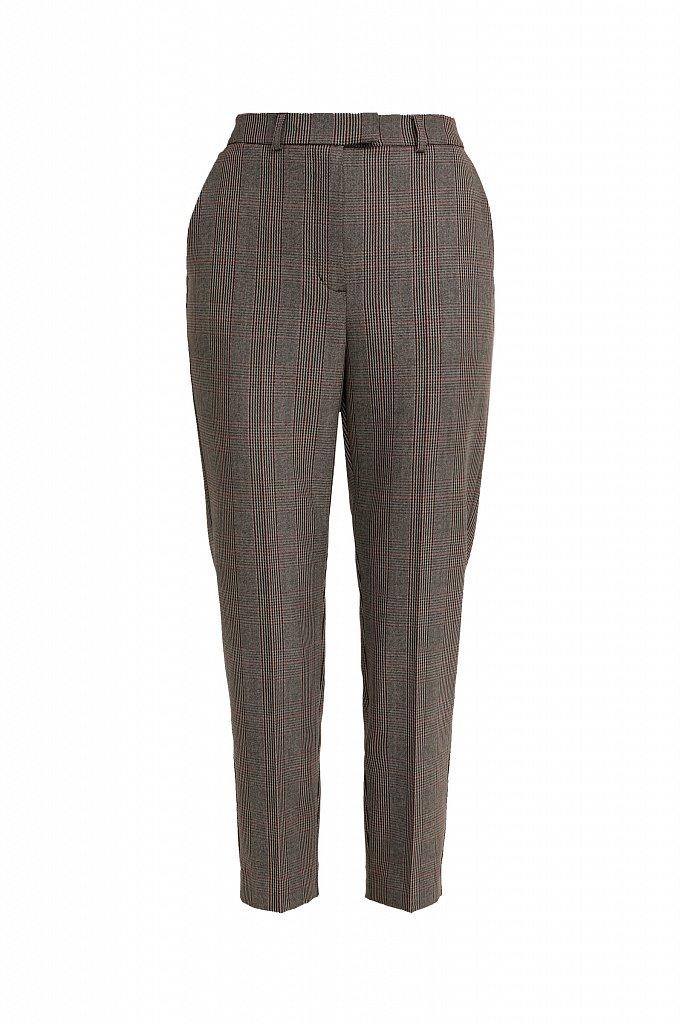 Зауженные женские брюки в клетку со стрелками, Модель A20-11097, Фото №6