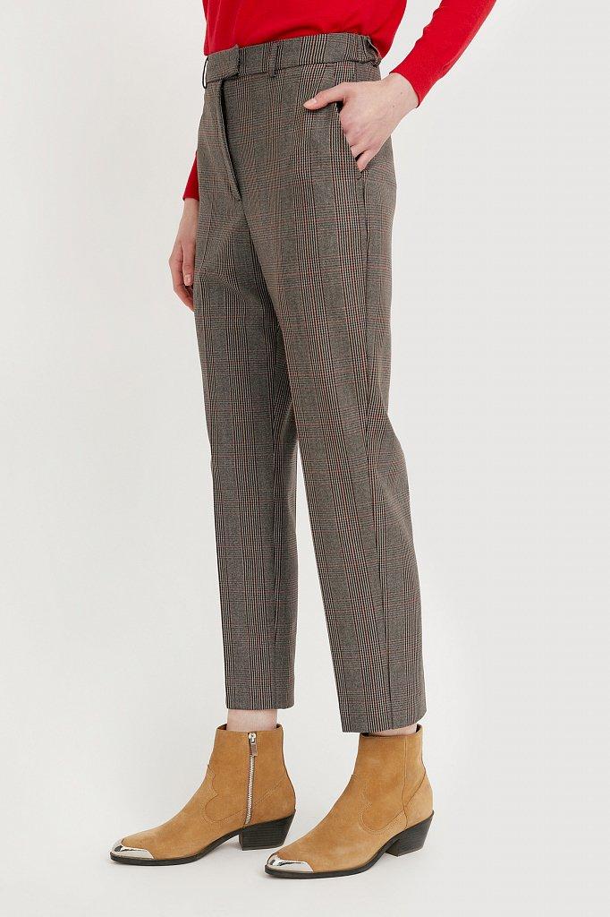 Зауженные женские брюки в клетку со стрелками, Модель A20-11097, Фото №3