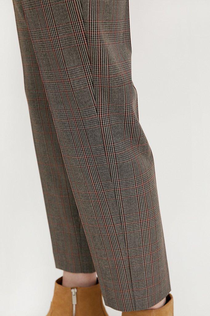 Зауженные женские брюки в клетку со стрелками, Модель A20-11097, Фото №5