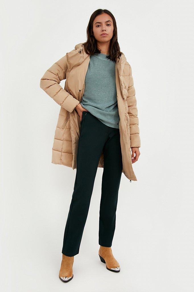 Классические женские брюки прямого кроя с вискозой, Модель A20-32047, Фото №1