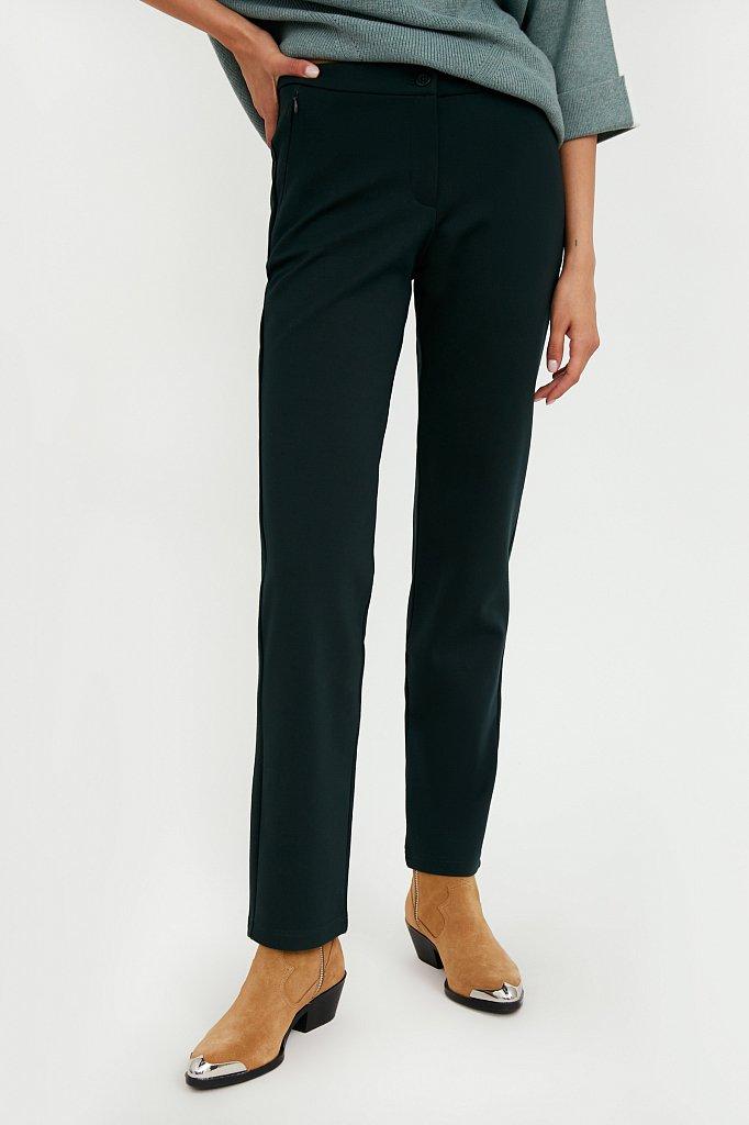 Классические женские брюки прямого кроя с вискозой, Модель A20-32047, Фото №2