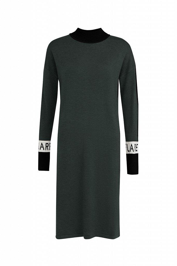 Платье женское прямого силуэта с шерстью, Модель A20-32100, Фото №6