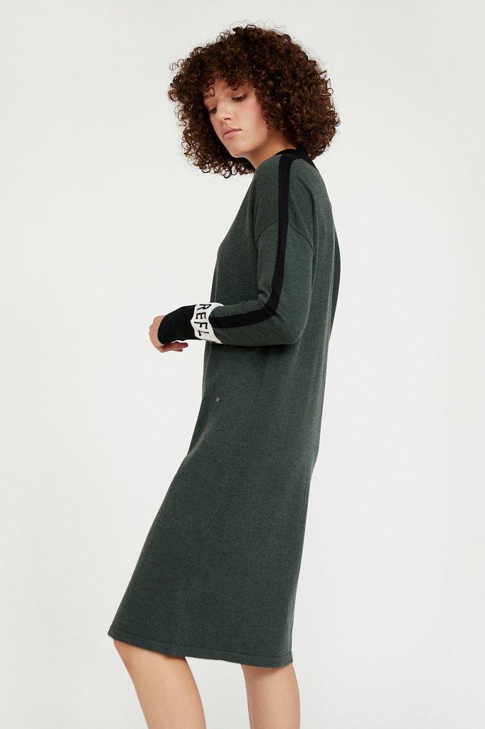 Платье женское прямого силуэта с шерстью, Модель A20-32100, Фото №3