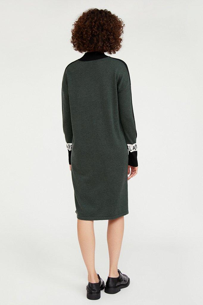 Платье женское прямого силуэта с шерстью, Модель A20-32100, Фото №4