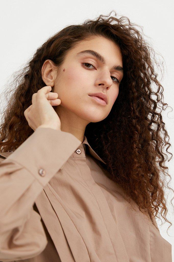 Блузка женская оверсайз с декоративной отделкой, Модель A20-11096R, Фото №5