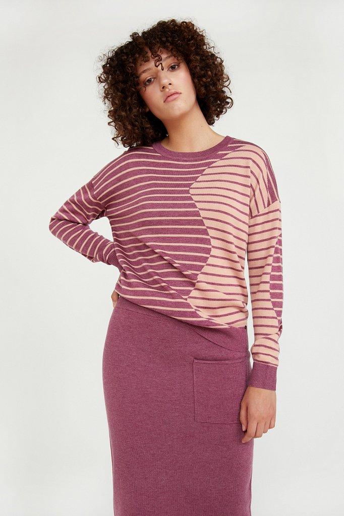 Джемпер женский из смесовой ткани с шерстью, Модель A20-12122, Фото №1