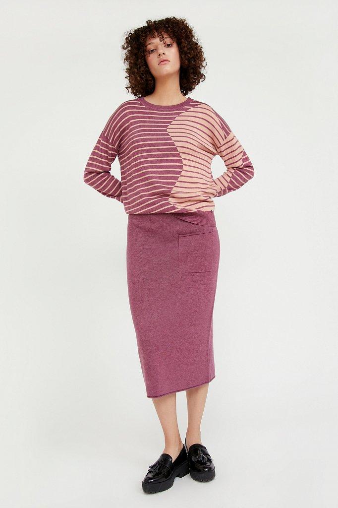 Джемпер женский из смесовой ткани с шерстью, Модель A20-12122, Фото №2