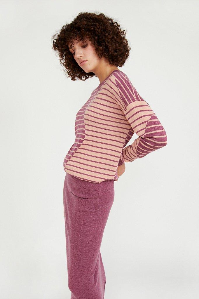 Джемпер женский из смесовой ткани с шерстью, Модель A20-12122, Фото №3