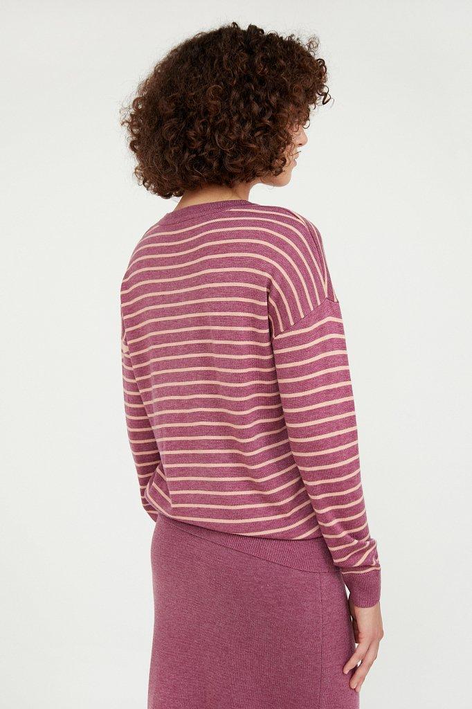 Джемпер женский из смесовой ткани с шерстью, Модель A20-12122, Фото №4
