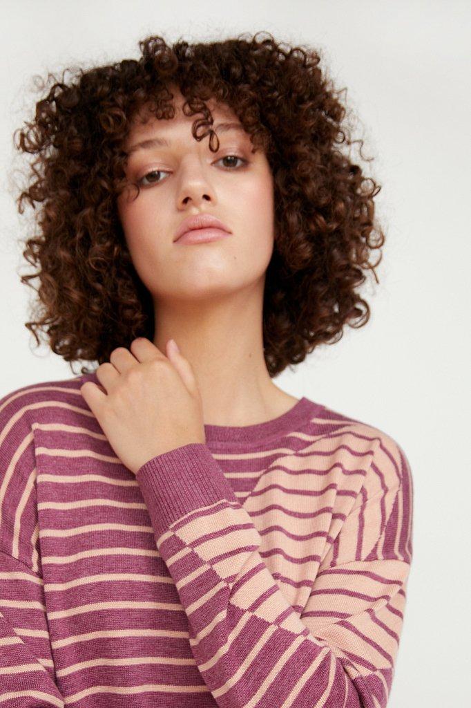 Джемпер женский из смесовой ткани с шерстью, Модель A20-12122, Фото №5