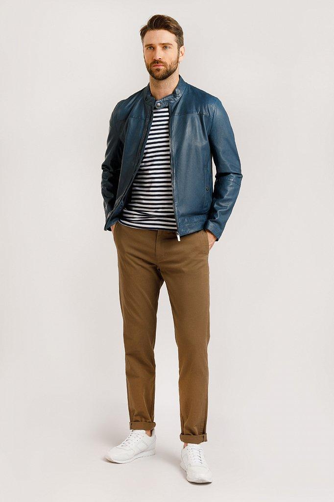Куртка кожаная мужская, Модель B20-21804, Фото №2