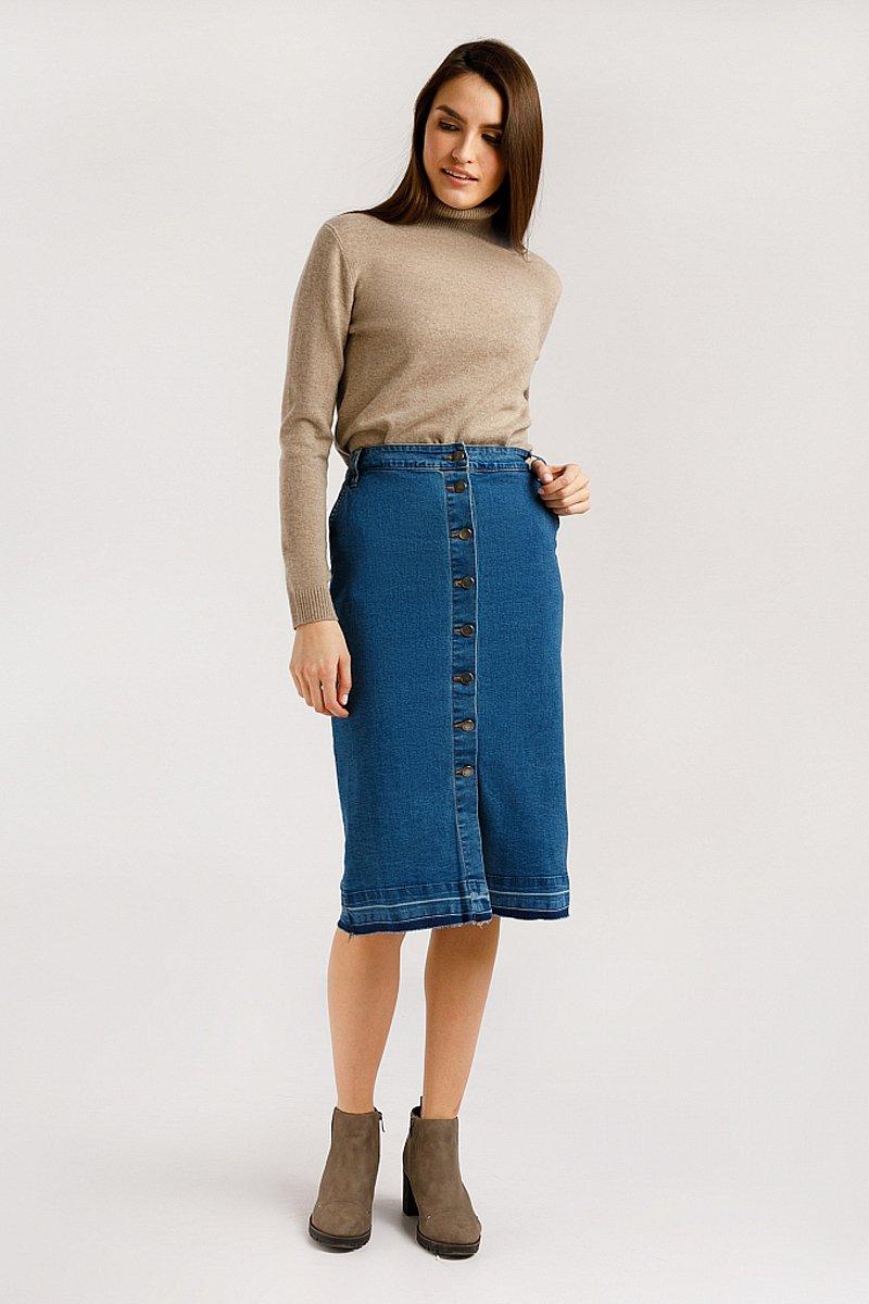 Юбка джинсовая женская, Модель B20-15016, Фото №1
