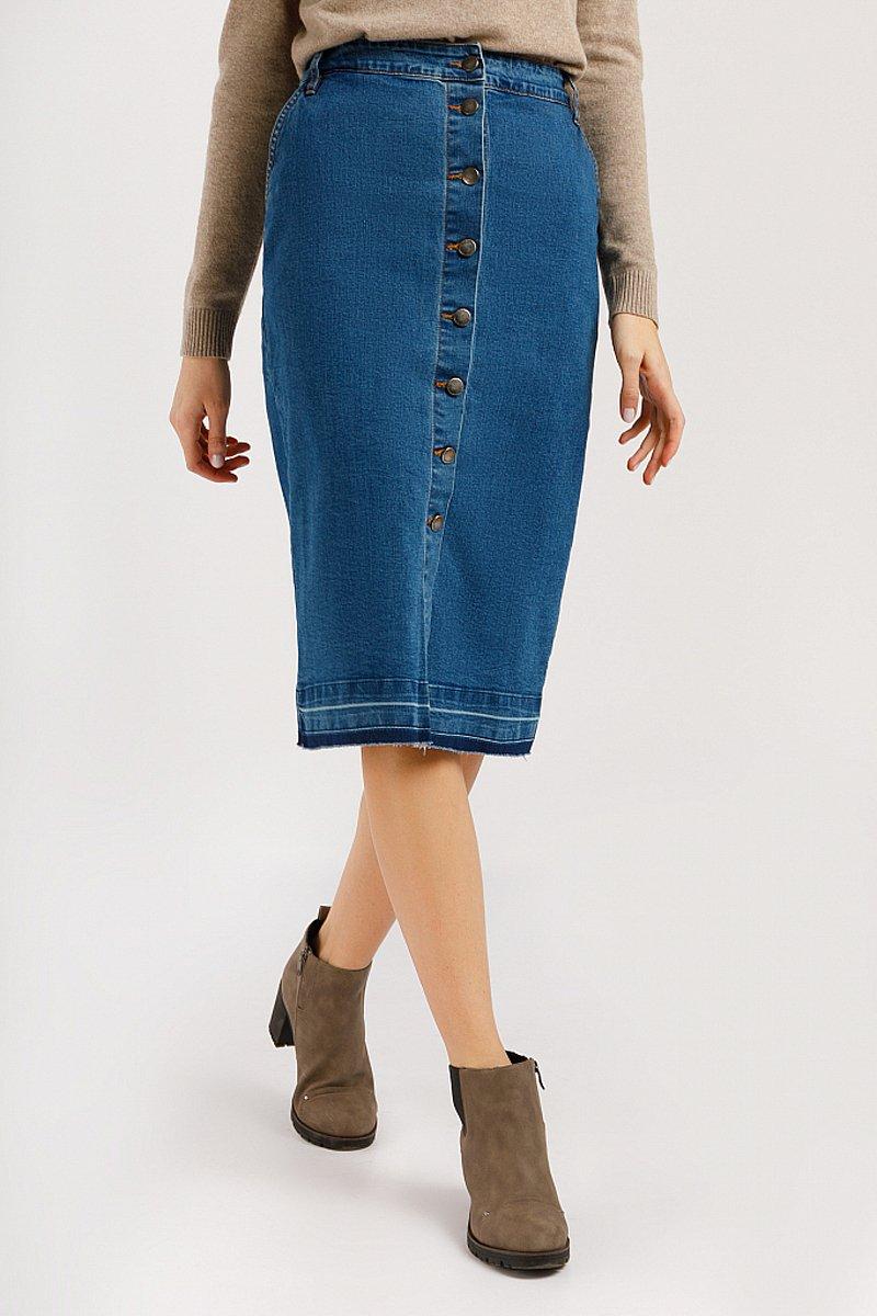 Юбка джинсовая женская, Модель B20-15016, Фото №2