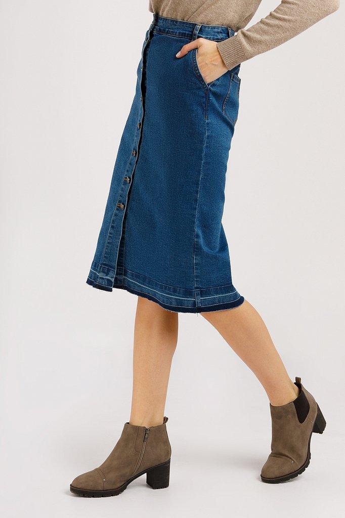 Юбка джинсовая женская, Модель B20-15016, Фото №3