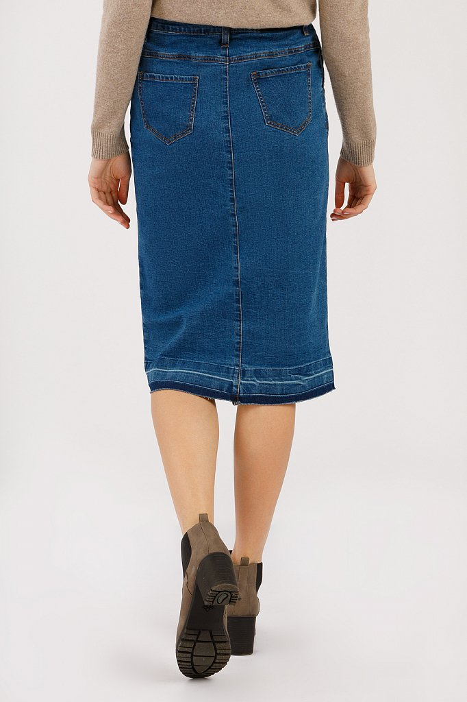 Юбка джинсовая женская, Модель B20-15016, Фото №4