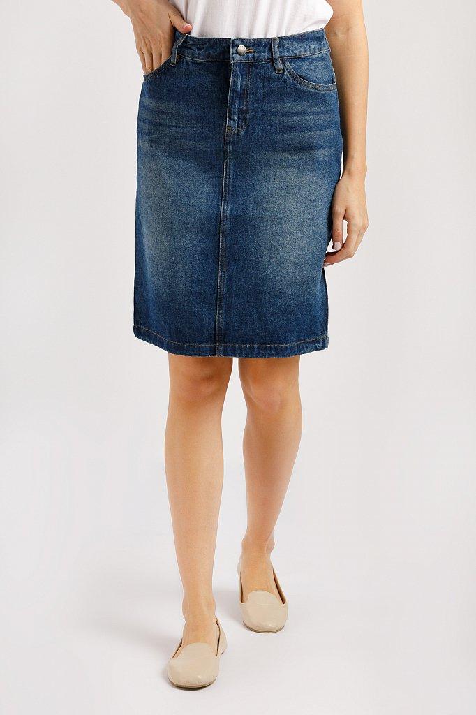 Юбка джинсовая женская, Модель B20-15018, Фото №1