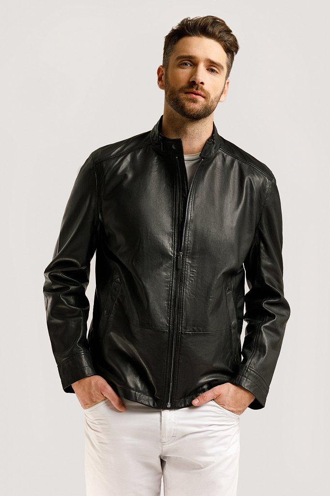 Куртка кожаная мужская, Модель B20-21800, Фото №3