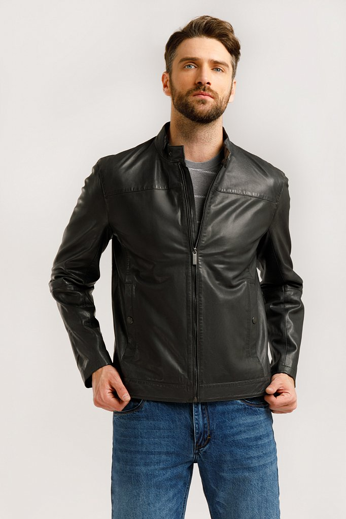 Куртка кожаная мужская, Модель B20-21804, Фото №3