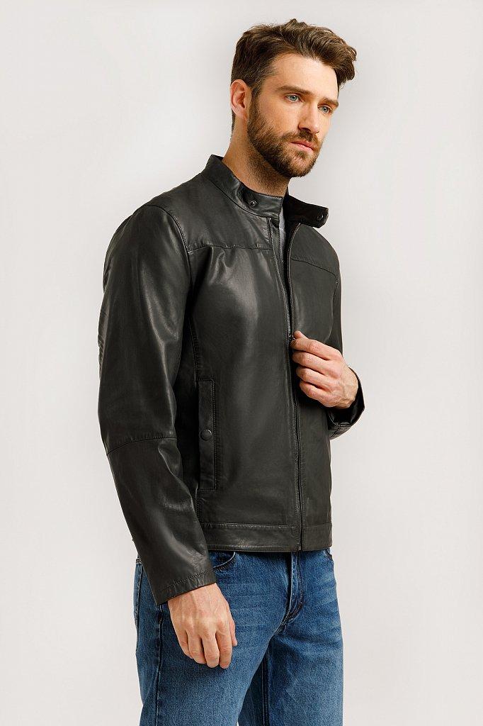 Куртка кожаная мужская, Модель B20-21804, Фото №4