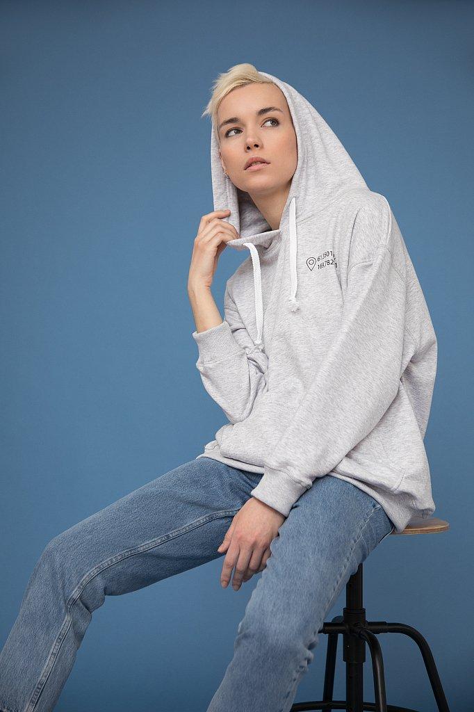 Худи женское с принтом «Камчатка», Модель B20-51001, Фото №1