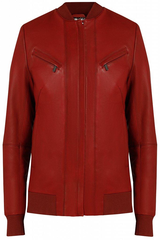 Куртка кожаная женская, Модель B20-11803, Фото №6