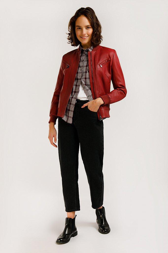 Куртка кожаная женская, Модель B20-11803, Фото №2