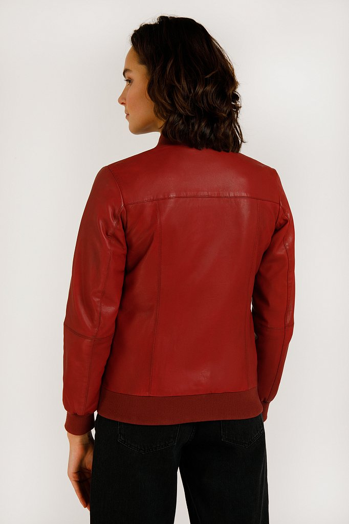 Куртка кожаная женская, Модель B20-11803, Фото №4