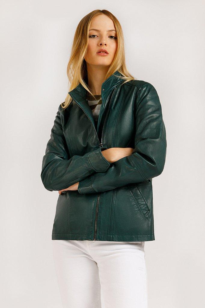 Куртка кожаная женская, Модель B20-11801, Фото №1