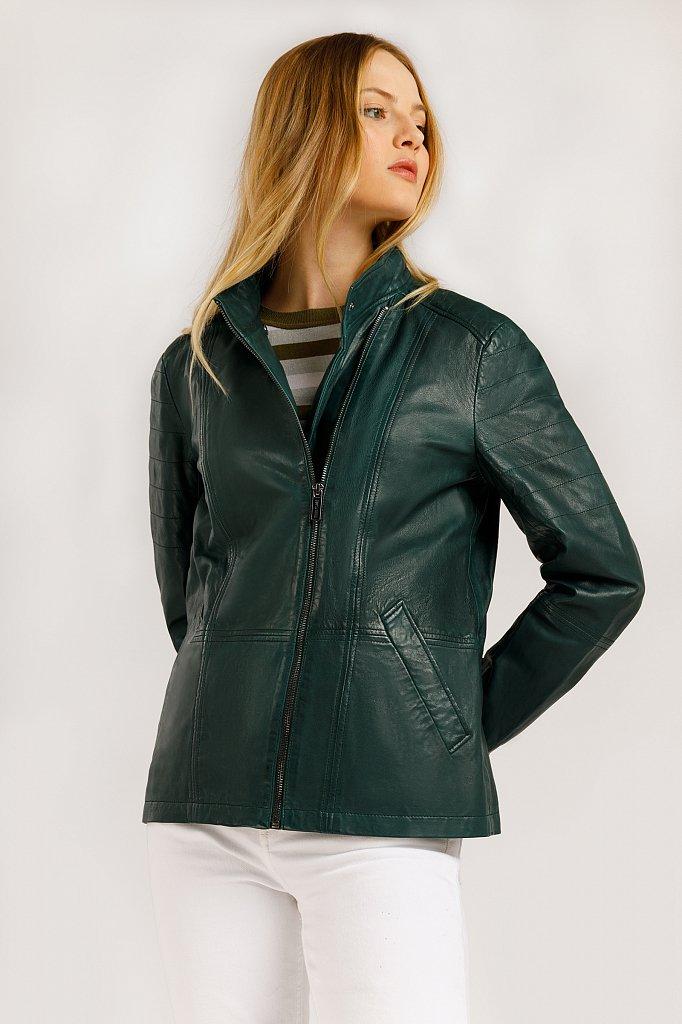 Куртка кожаная женская, Модель B20-11801, Фото №2