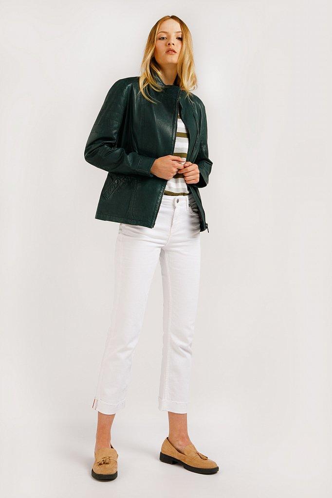 Куртка кожаная женская, Модель B20-11801, Фото №3