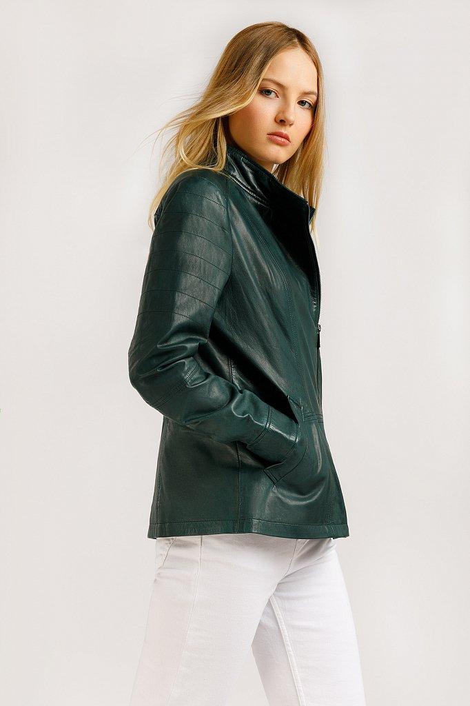 Куртка кожаная женская, Модель B20-11801, Фото №4