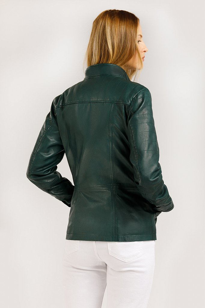 Куртка кожаная женская, Модель B20-11801, Фото №5