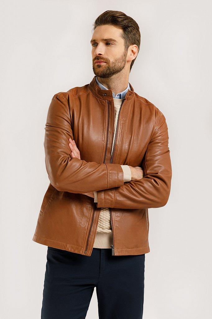 Куртка кожаная мужская, Модель B20-21800, Фото №1